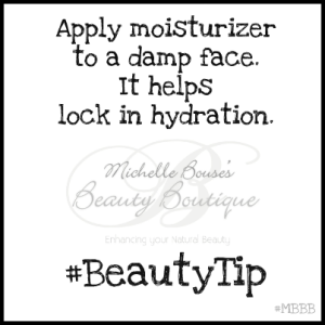 wet face moisturizer tip