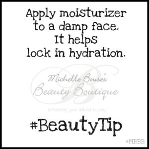 wet face moisturizer tip